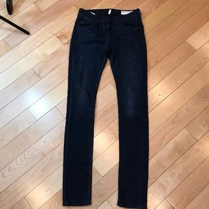 Rag and Bone High Rise Skinny in Classic Indigo 25